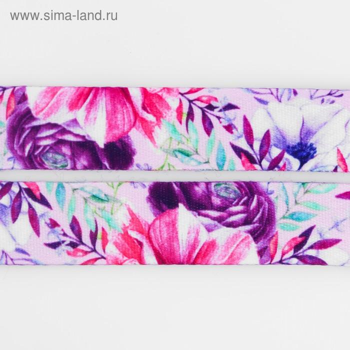 Лента для бейджа Floral, 40×2 см