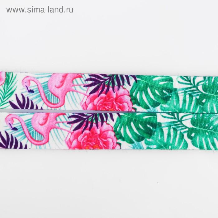 Лента для бейджа «Фламинго», 40×2 см