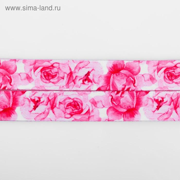 Лента для бейджа «Цветочная нежность», 40×2 см
