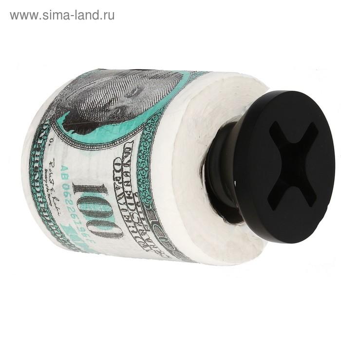 """Держатель для туалетной бумаги """"Шуруп"""" черный"""