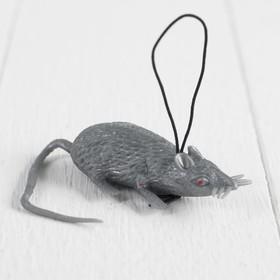 Прикол «Мышь», резиновая, цвет серый Ош