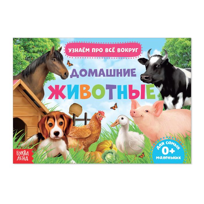 Обучающая книжка Домашние животные, 18 животных