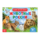 Обучающая книжка «Животные России», 18 животных