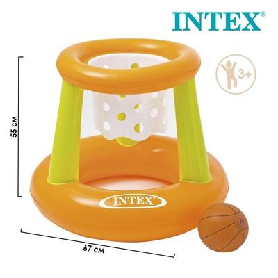 Корзина баскетбольная, надувная, с мячом, 67 х 55 см, от 3 лет, 58504NP INTEX - Фото 1