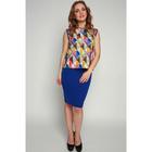 Блузка женская, размер 42, цвет синий, оранжевый
