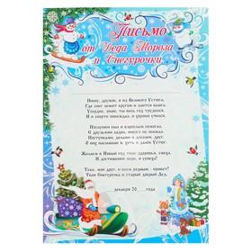 "Письмо ""Деду Морозу и Снегурочке"" снеговик на сноуборде, А4"