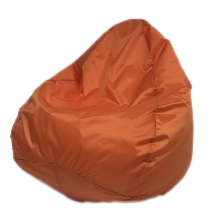 Кресло-мешок «Юниор», ширина 75 см, высота 100 см, оранжевый, рогожка