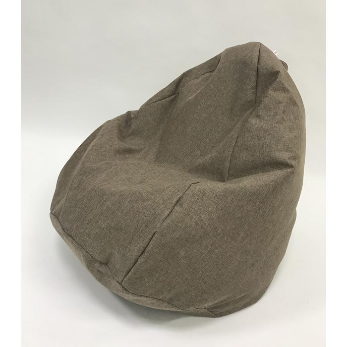 Кресло-мешок «Юниор», ширина 75 см, высота 100 см, коричневый, рогожка