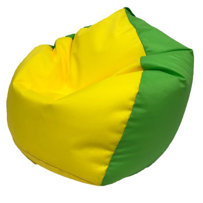 Кресло-мешок «Кроха», ширина 70 см, высота 80 см, желто-салатовый, плащёвка