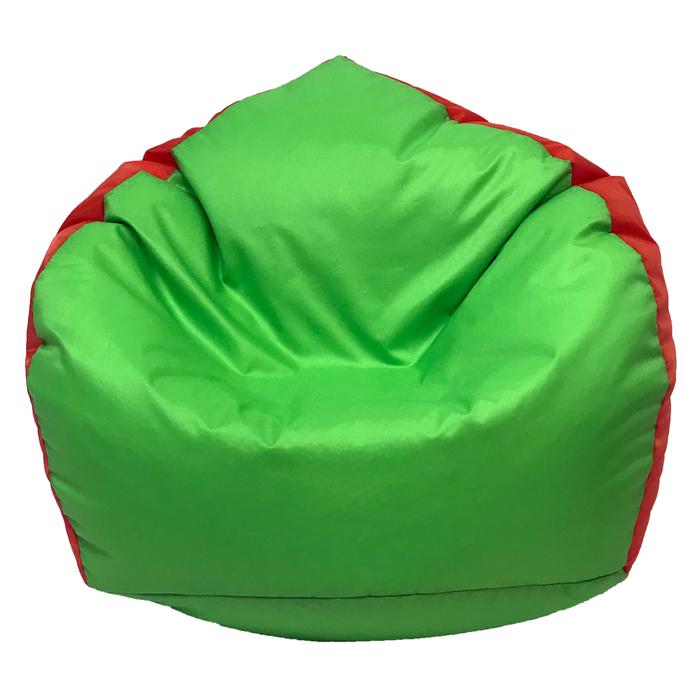 Кресло-мешок «Кроха», ширина 70 см, высота 80 см, салатово-оранжевый, плащёвка