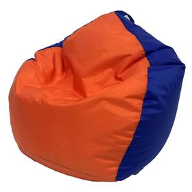 Кресло-мешок «Кроха», ширина 70 см, высота 80 см, цвет оранжево-васильковый, плащёвка Ош