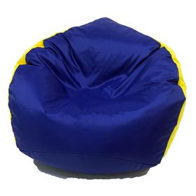 Кресло-мешок «Кроха», ширина 70 см, высота 80 см, васильково-желтый, плащёвка Ош