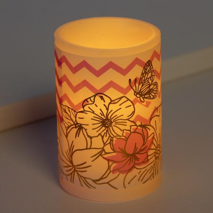Электронная свеча Цветы, 5 х 7 см
