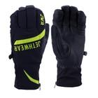 Перчатки Jethwear Empire с утеплителем, чёрный, жёлтый, S