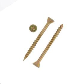 Саморез отделочный INFIX, 3.5х40 мм, потайной, Torx10, жёлтый цинк Ош