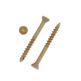 Саморез отделочный INFIX, 3.5х35 мм, потайной, Torx10, жёлтый цинк
