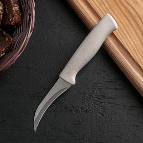 Нож для чистки овощей Доляна «Ринго», лезвие 7,5 см, цвет МИКС