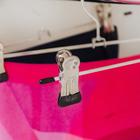 Вешалка для брюк и юбок с зажимами, 30×10 см - Фото 3