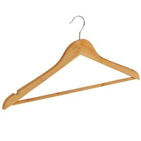 Вешалка-плечики для одежды с перекладиной Доляна, размер 46-48, цвет светлое дерево