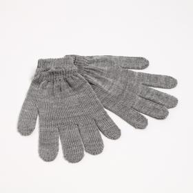 Перчатки женские, цвет светло-серый, р-р 18 Ош