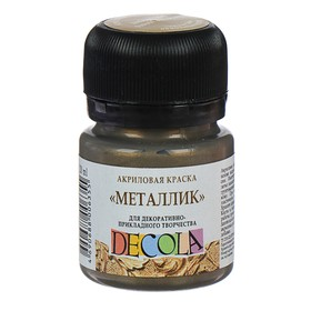 Краска акриловая Metallic 20 мл ЗХК «Декола», античное золото Ош