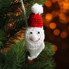 Набор для создания новогодней подвески со светом «Дед Мороз-красный нос»