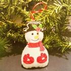 Набор для создания подвесной ёлочной игрушки из фетра «Снеговик в варежках»