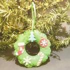 Набор для создания подвесной ёлочной игрушки из фетра «Венок»