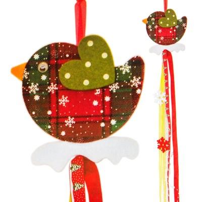 Набор для создания новогодней подвески «Птичка»