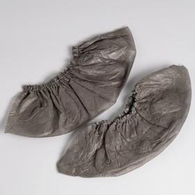 Носки одноразовые для прокатной обуви из НПП, черный, 360*120 мм, спанбонд 17 г/м2