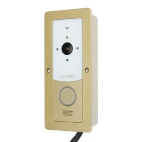 Вызывная панель видеодомофона SLINEX ML-20IP, наруж, 145 град,960 ТВЛ,ИК,Wi-Fi,бело-золотая Ош
