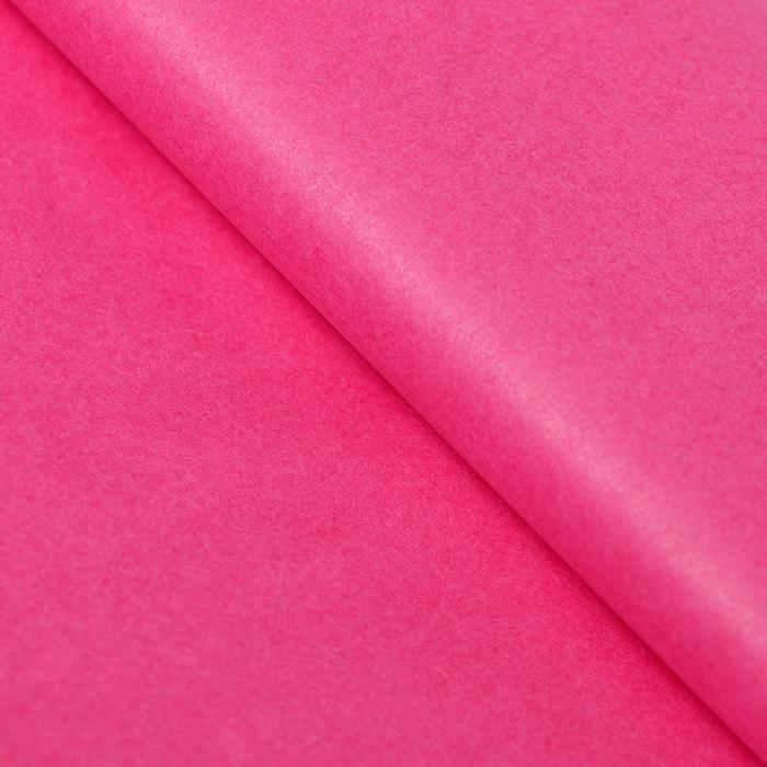Бумага упаковочная тишью, розовая, 50 х 66 см