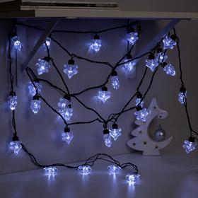 Гирлянда 'Нить' улично-комнатная с насадками 'Ель большая', 5м, LED(IP44)-40-220V, 8 режимов, нить тёмная, свечение белое Ош