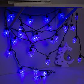 Гирлянда 'Нить' улично-комнатная с насадками 'Ель большая', 5м, LED(IP44)-40-220V, 8 режимов, нить тёмная, свечение синее Ош