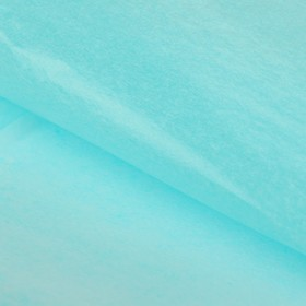 Бумага упаковочная тишью, голубой, 50 х 66 см Ош
