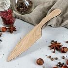 Ножик с зубцами 21 х 3,5 см, массив дуба
