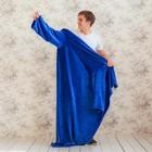 Плед с рукавами, цвет синий, 150х200 см, рукав — 27х52 см, аэрософт - Фото 2