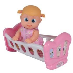 Кукла Bouncin' Babies «Бони», с кроваткой, 16 см