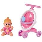 Кукла Bouncin' Babies «Бони», с коляской, 16 см