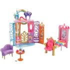 Игровой набор Barbie «Переносной радужный дворец», с куклой