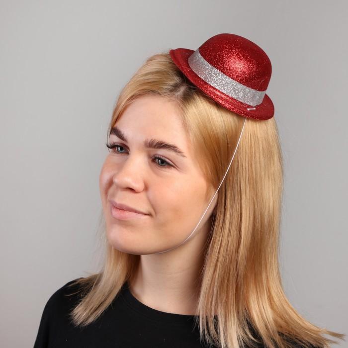 Карнавальная шляпка Овал, на резинке, цвета МИКС