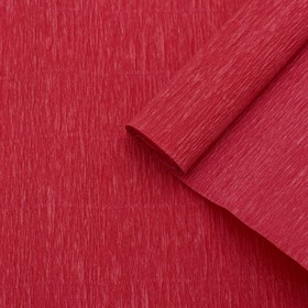 Бумага креп, простой, цвет красный, 0,5 х 2,5 м Ош