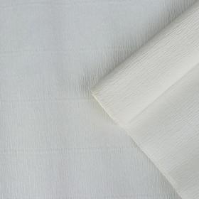 Бумага креп, простой, цвет белый, 0,5 х 2,5 м Ош