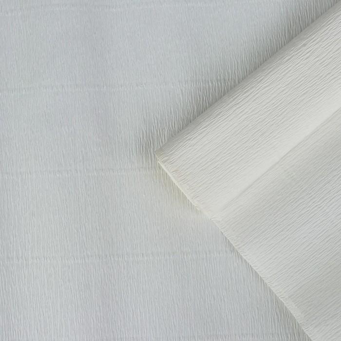 Бумага креп, простой, цвет белый, 0,5 х 2,5 м