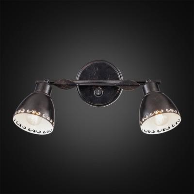 Светильник Робуста, 2x60Вт Е14 венге, белый