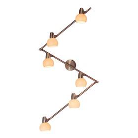 Светильник Бонго, 6x60Вт E14 бронза