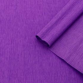 Бумага креп, простой, цвет сиреневый, 0,5 х 2,5 м Ош