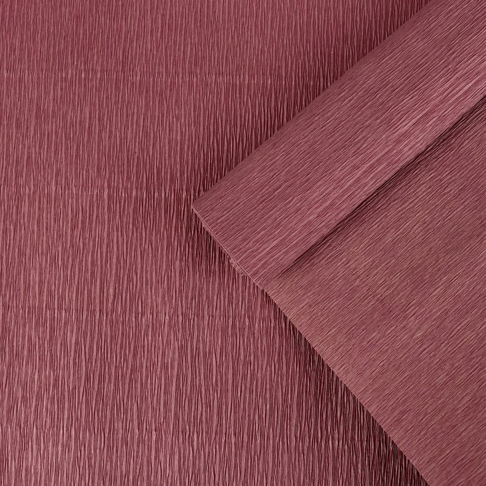 Бумага креп, простой, цвет бордовый, 0,5 х 2,5 м