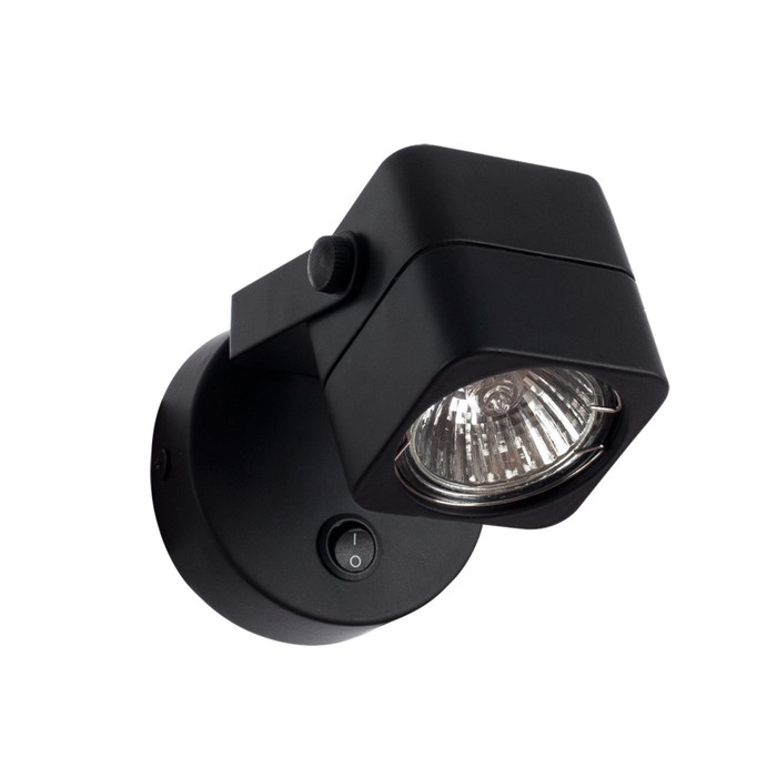 Светильник Lente, 1x50Вт GU10, чёрный