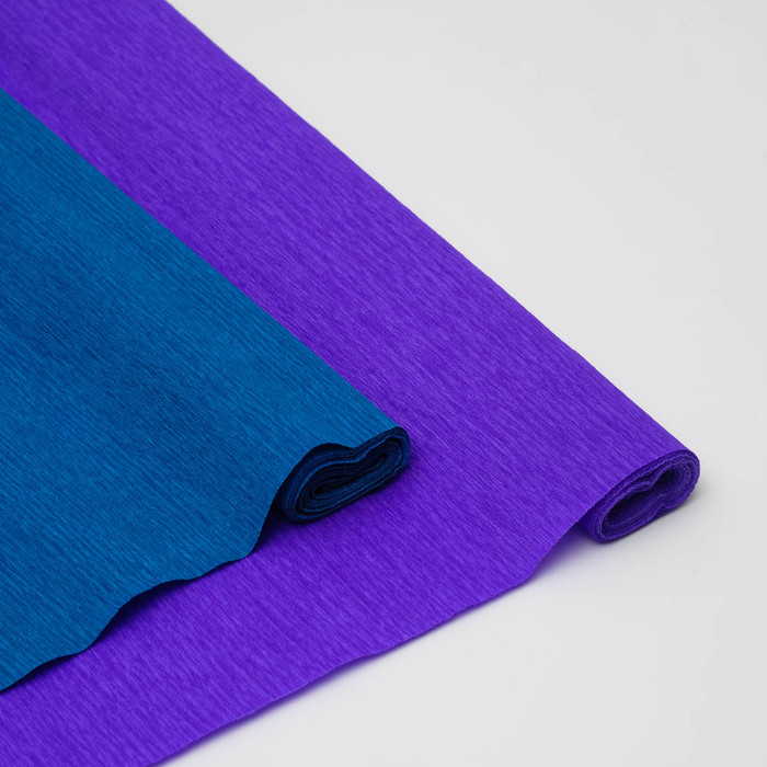 Бумага креп, простой, цвет фиолетовый, 0,5 х 2,5 м